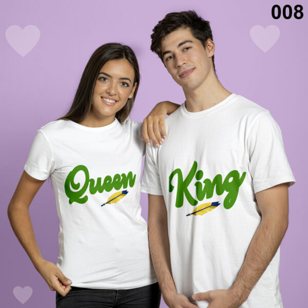 King and Queen Matching Couple Set Tshirt