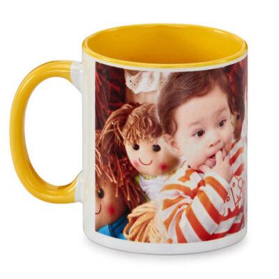 Customized Printed Yellow Coffee Mugs Online in India