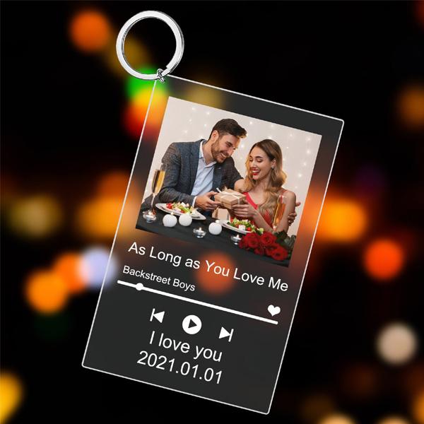 Buy Best Custom Scannable Spotify Acrylic Plaque Keychain
